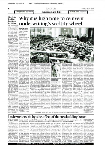 Lloyds List JJ Underwritings Wobbly Wheel Article Feb 07